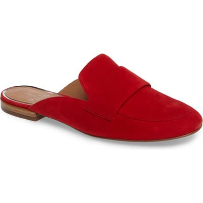Linea Paolo Annie Genuine Calf Hair Loafer Mule, Red