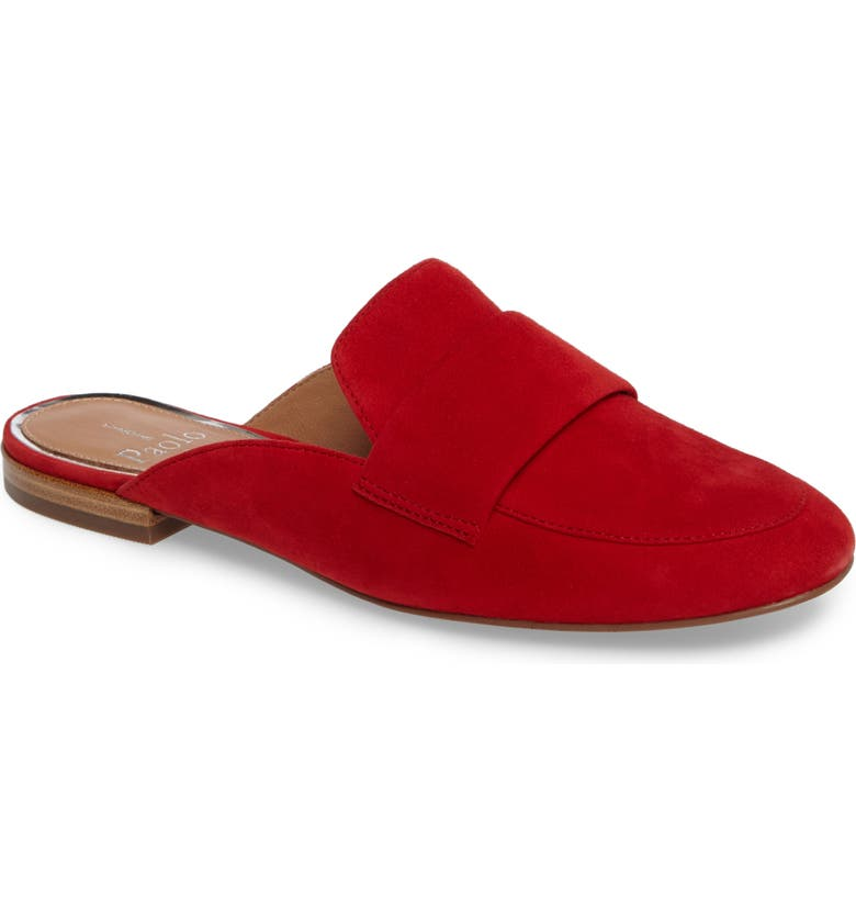 LINEA PAOLO Annie Loafer Mule, Main, color, RED SUEDE