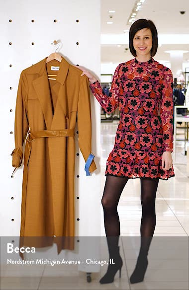 Meadow Wool Blend Trench Coat, sales video thumbnail