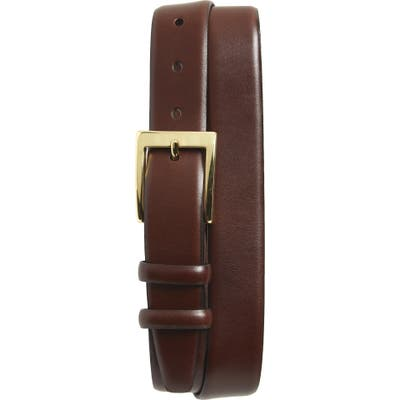 Torino Double Buckle Leather Belt, Brown