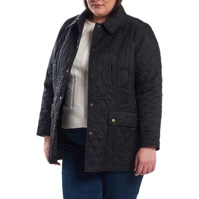 Plus Size Barbour Beadnell Summer Quilted Jacket, Black