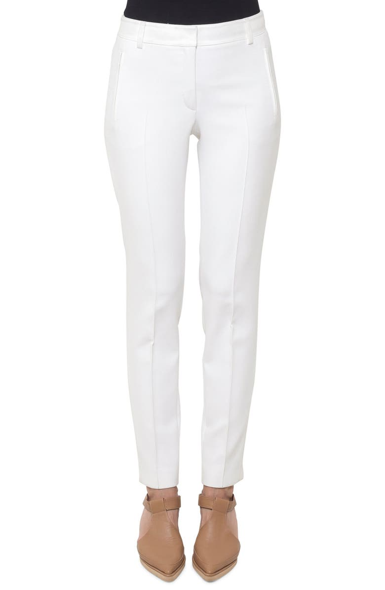 AKRIS PUNTO Fabia Pants, Main, color, CREAM