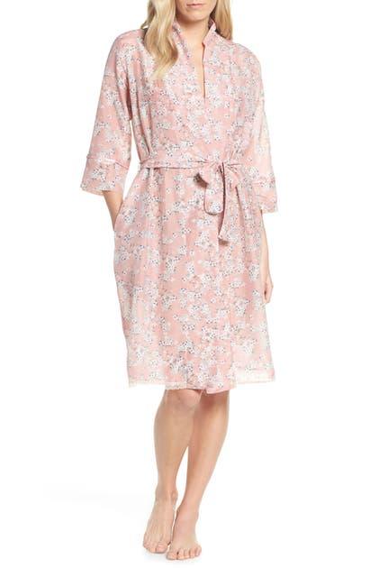 7c6e3ae7c Papinelle Isabelle Cotton & Silk Robe In Dark Pink   ModeSens