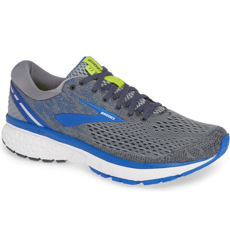 BROOKS Ghost 11 Running Shoe, Main, color, GREY/ BLUE/ SILVER