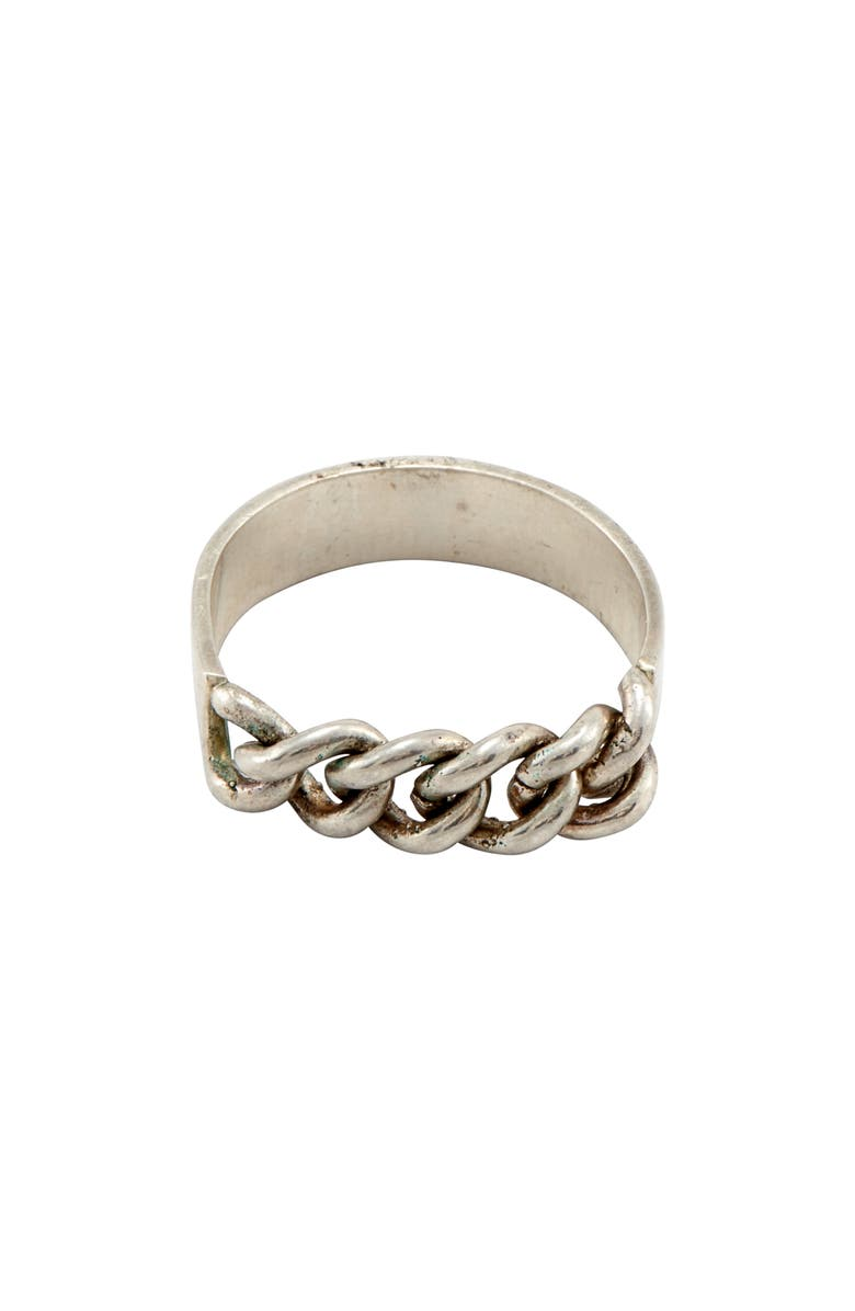 LOREN STEWART Loose Chain Ring, Main, color, SILVER