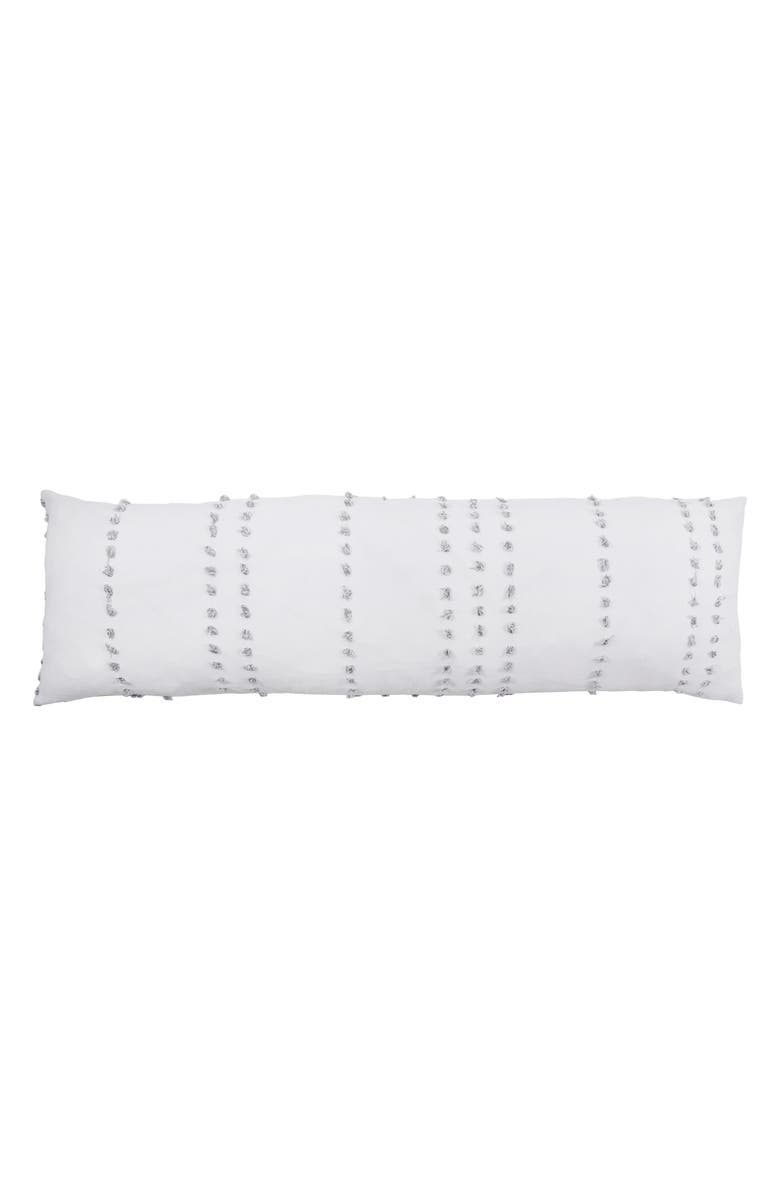 POM POM AT HOME Poppy Body Pillow, Main, color, WHITE/ GREY