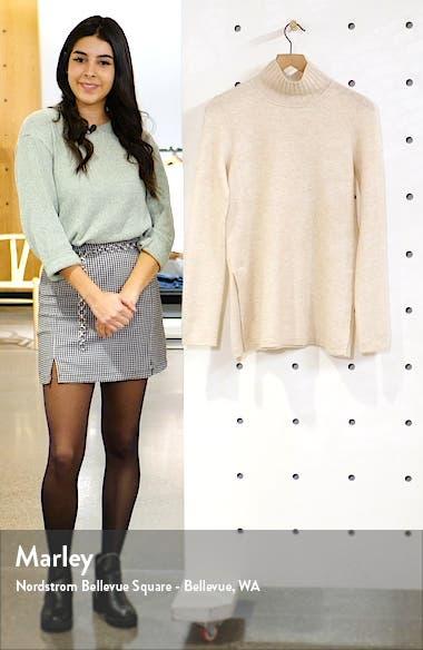 Side Slit Cashmere Turtleneck Sweater, sales video thumbnail