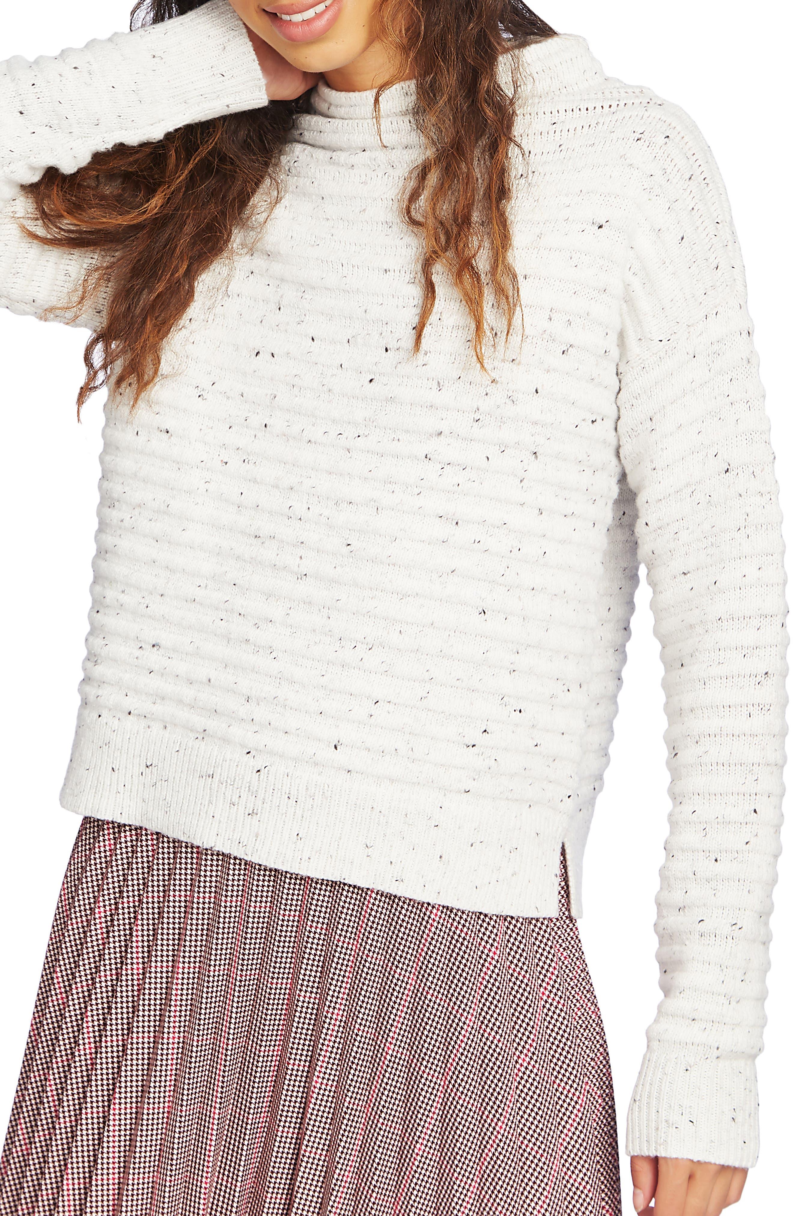 Court & Rowe Speckled Ottoman Turtleneck Sweater