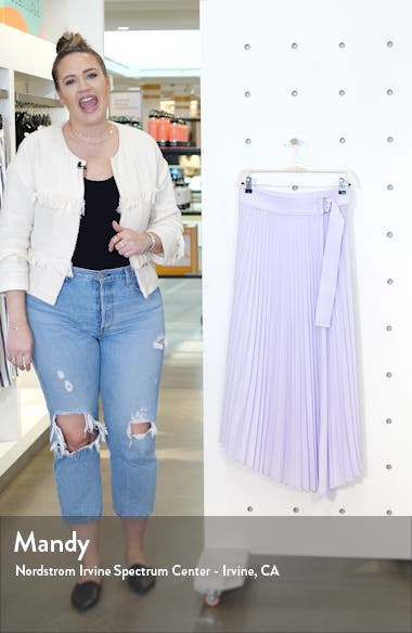 Arielle Asymmetrical Pleated Skirt, sales video thumbnail