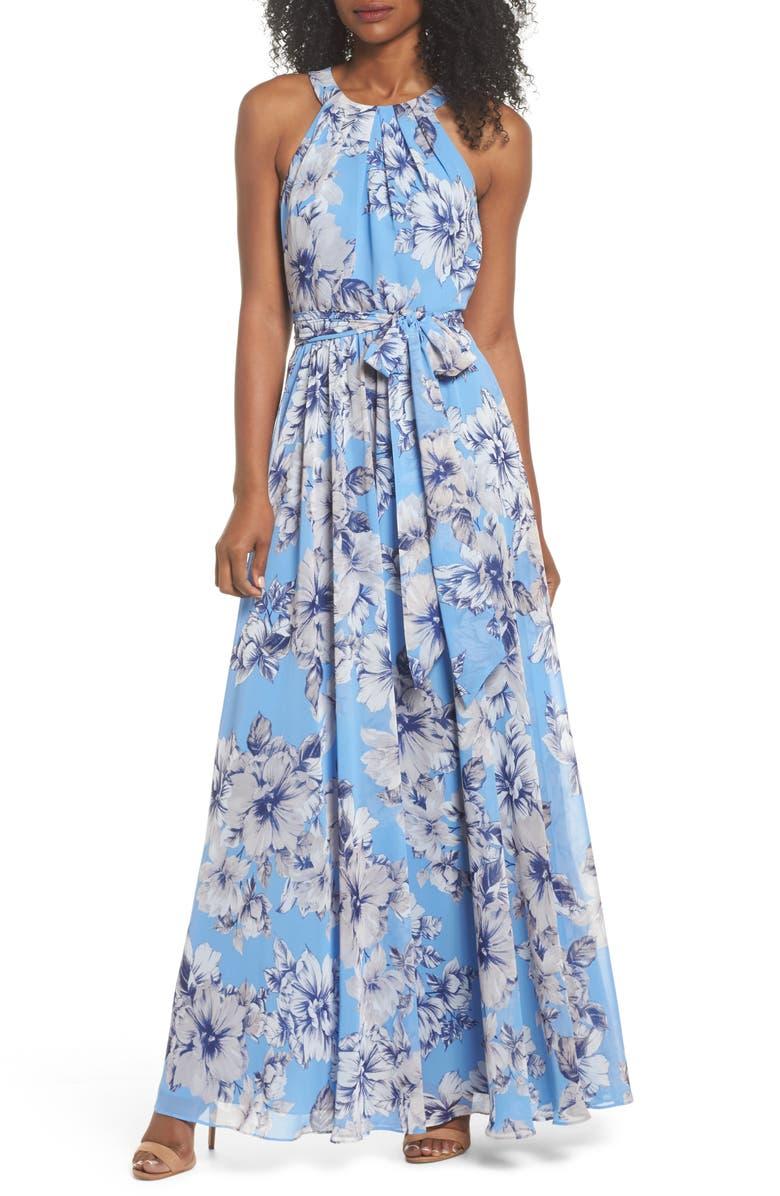 ELIZA J Halter Maxi Dress, Main, color, 421
