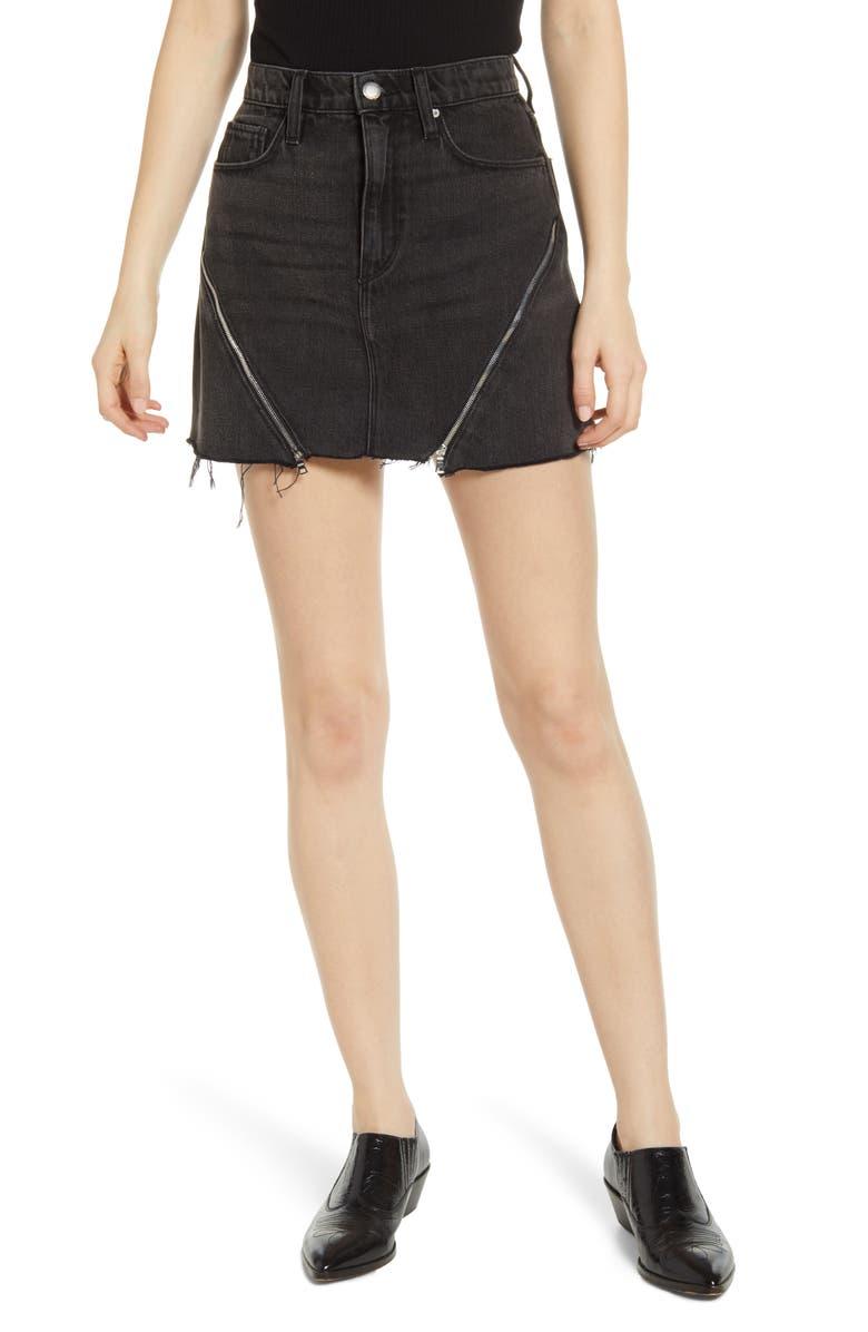 HUDSON JEANS The Viper Cutoff Denim Miniskirt, Main, color, VOID