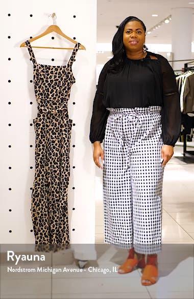 Leopard Print Belted Wide Leg Jumpsuit, sales video thumbnail