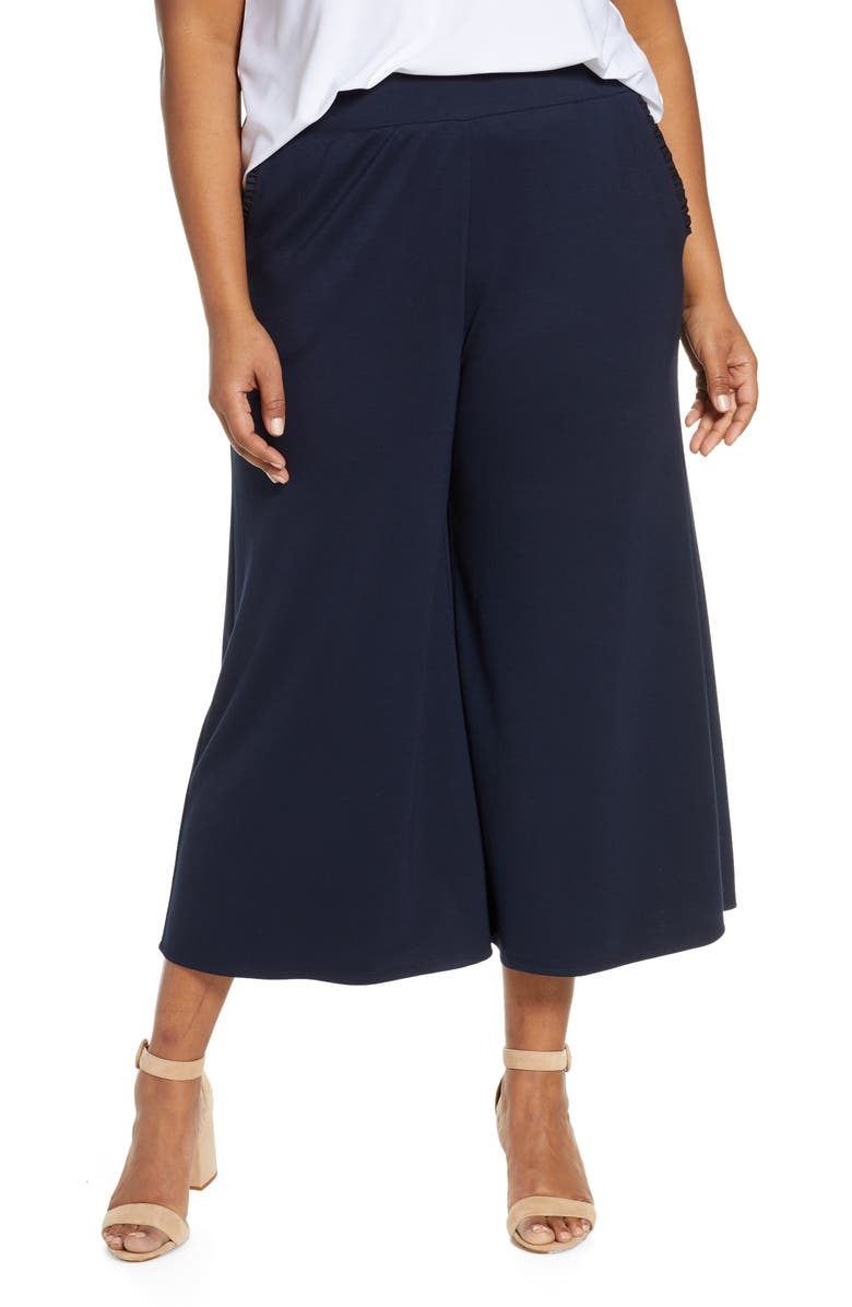 1365e20713bdaa Gibson x Living in Yellow Wide Leg Crop Pants (Plus Size) (Nordstrom ...