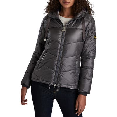 Barbour International Brace Quilted Puffer Jacket, US / 14 UK - Purple