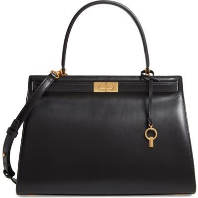 Tory Burch Large Lee Radziwill Leather Bag - Black