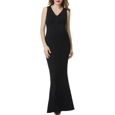 Kimi And Kai Edrei Maternity Mermaid Dress, Black