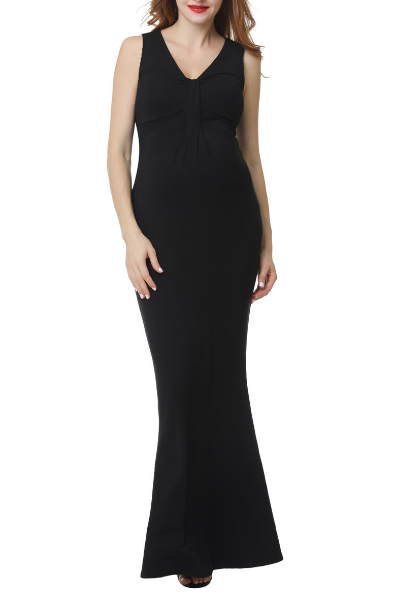 KIMI AND KAI Edrei Maternity Mermaid Dress, Main, color, BLACK