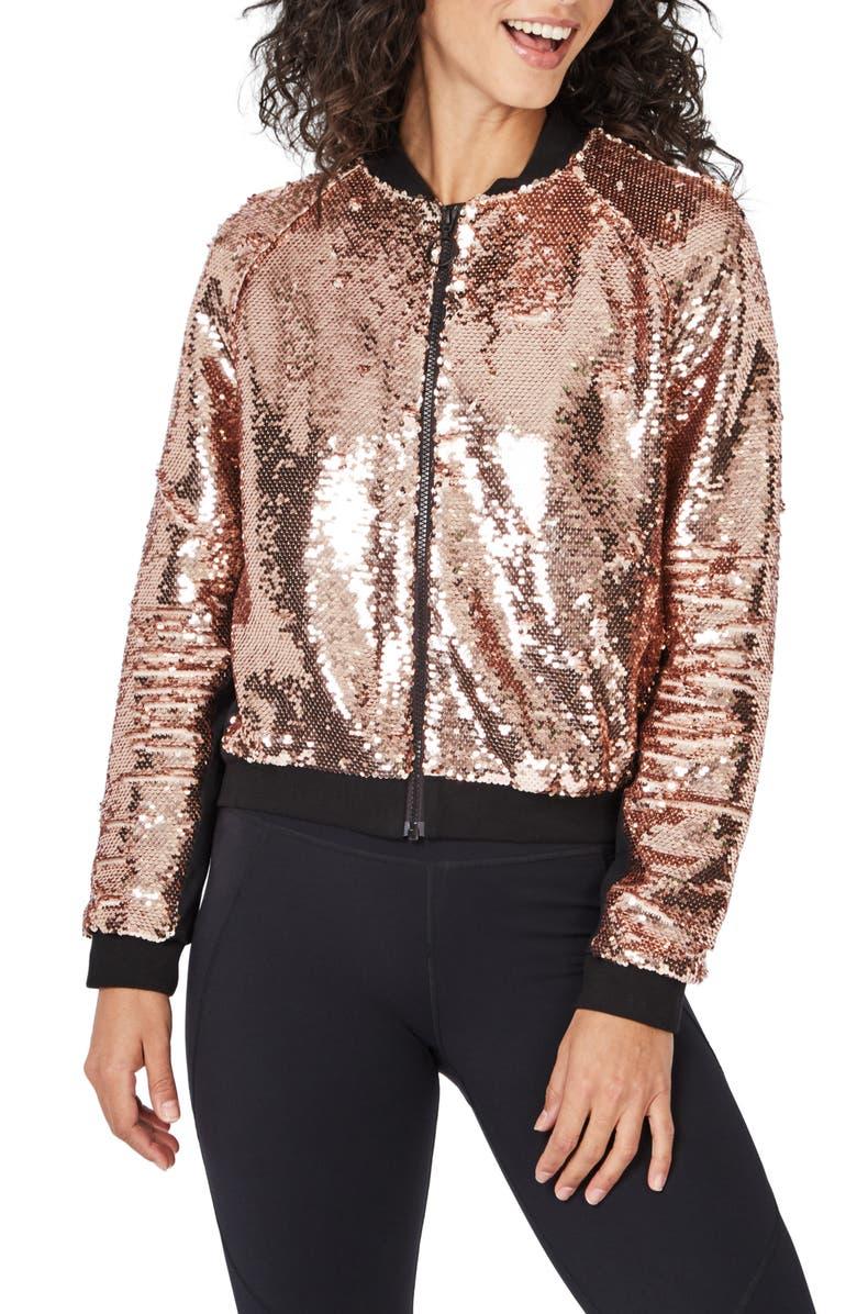 SWEATY BETTY Dance Floor Zip Jacket, Main, color, 650