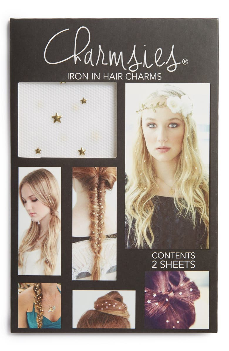 CHARMSIES Iron-In Star Shaped Hair Charms, Main, color, 710