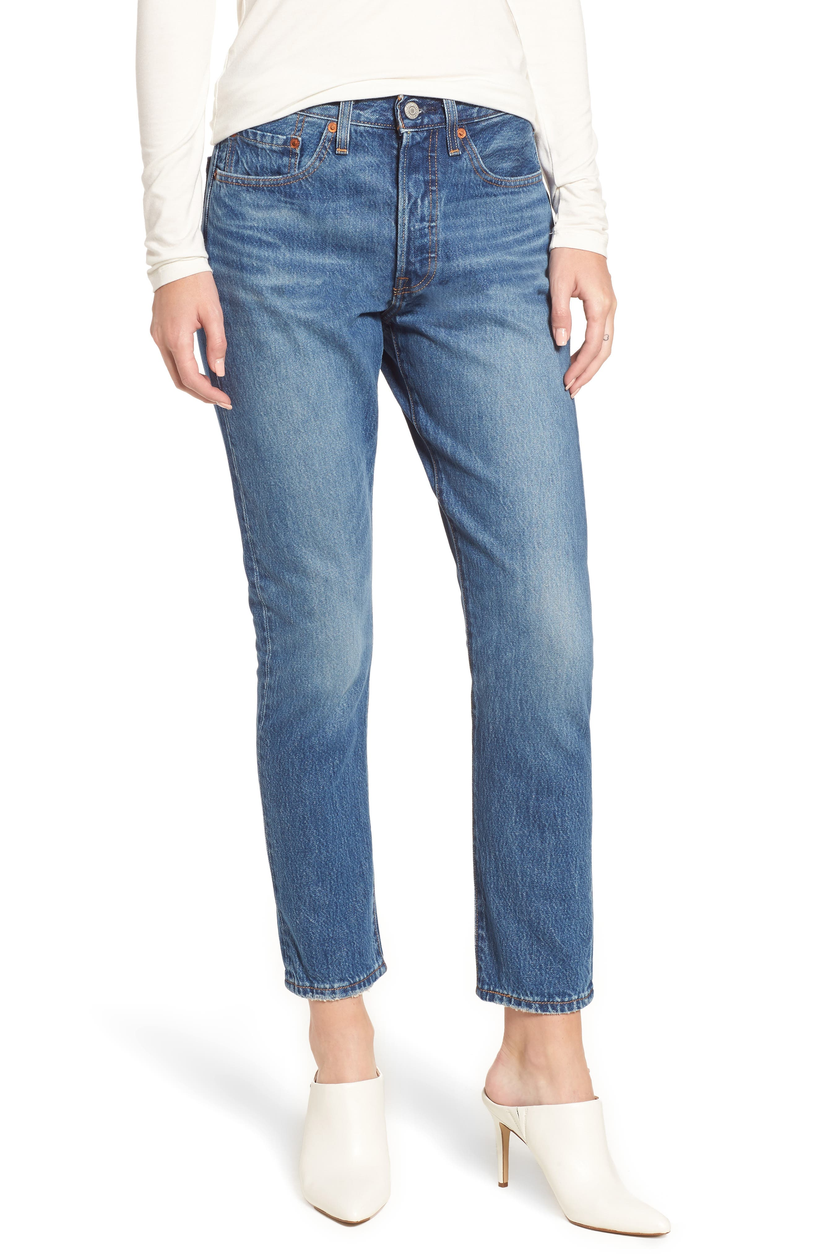 501<sup>®</sup> High Waist Ankle Skinny Jeans, Main, color, 420