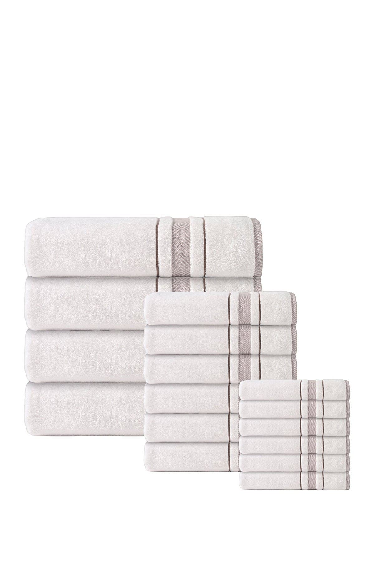 Image of ENCHANTE HOME Enchasoft Turkish Cotton 16-Piece Towel Set