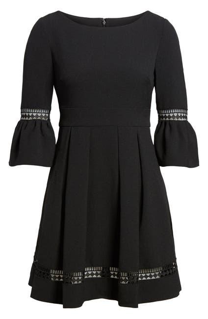 Image of Eliza J Bell Sleeve Fit & Flare Dress