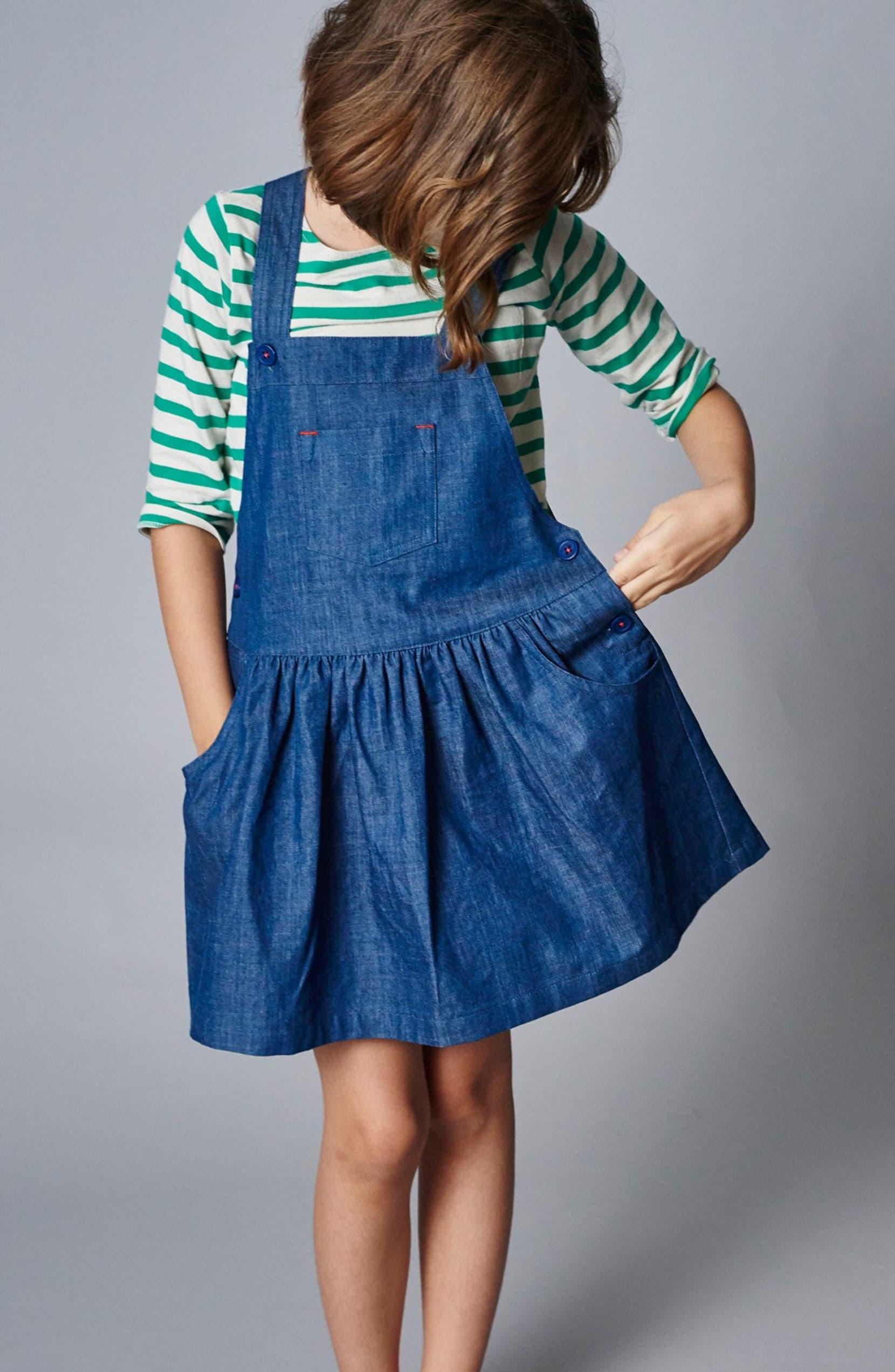 167a1e1138c61 Mini Boden 'Dungaree' Overall Dress (Toddler Girls, Little Girls & Big Girls)  | Nordstrom