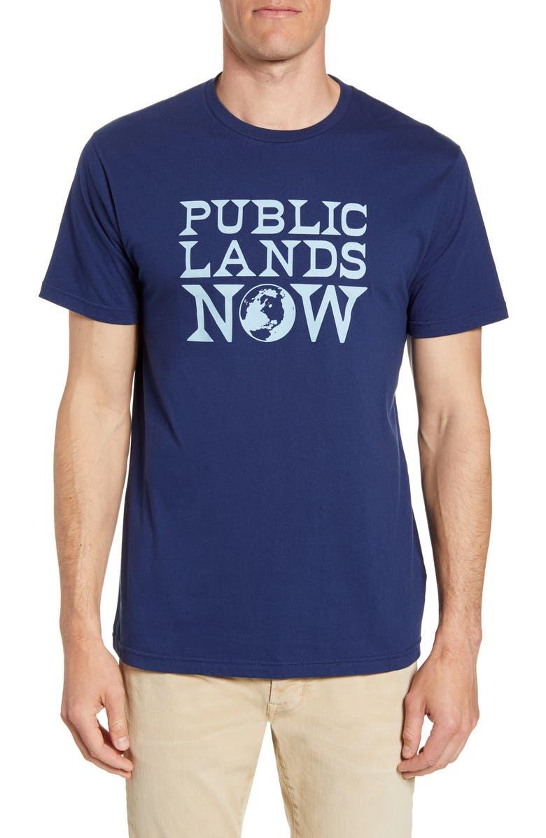 PATAGONIA Public Lands Now Organic Cotton T-Shirt, Main, color, CLASSIC NAVY