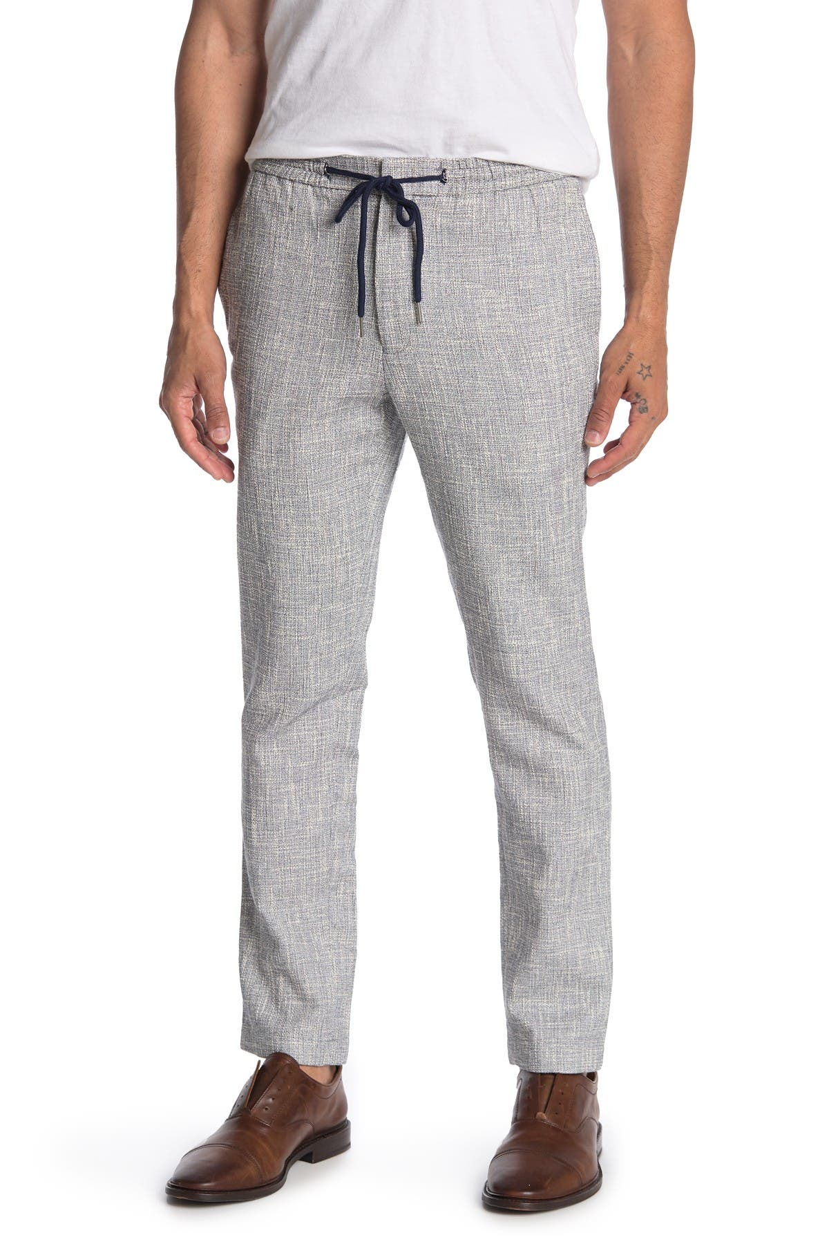 Image of Paisley & Gray Basketweave Heathered Slim FIt Pants