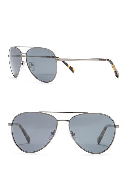 Image of Ted Baker London 60mm Metal Frame Aviator Sunglasses