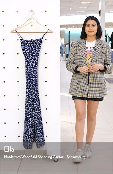 Floral Print Back Tie Jumpsuit, sales video thumbnail