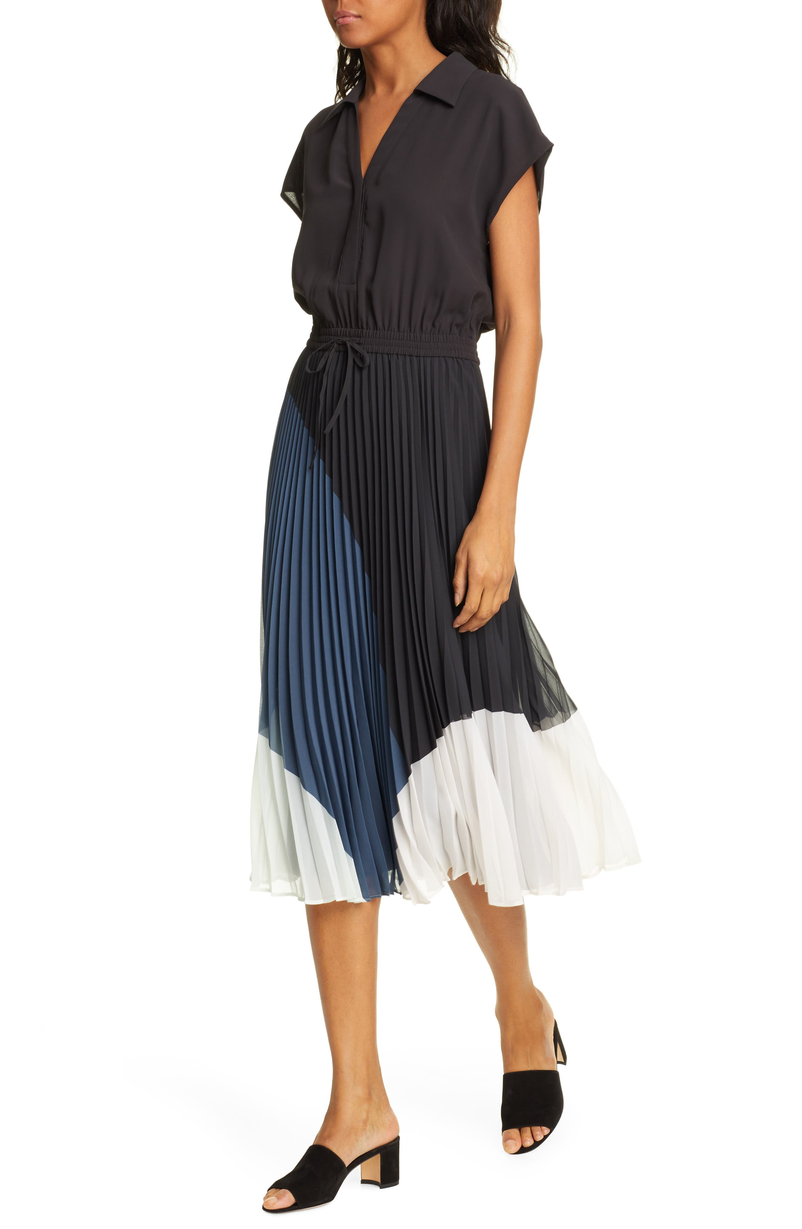 ,                             Shoanah Dress,                             Alternate thumbnail 4, color,                             BLACK MULTI