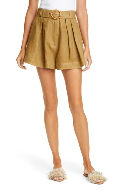 Zimmermann Shorts SUPER EIGHT LINEN SAFARI SHORTS