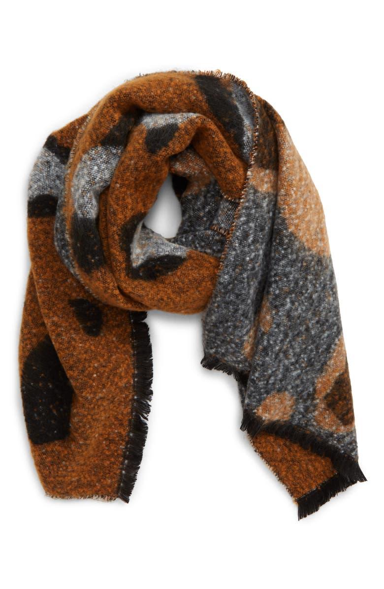 BP. Leopard Throw Blanket, Main, color, BROWN COMBO