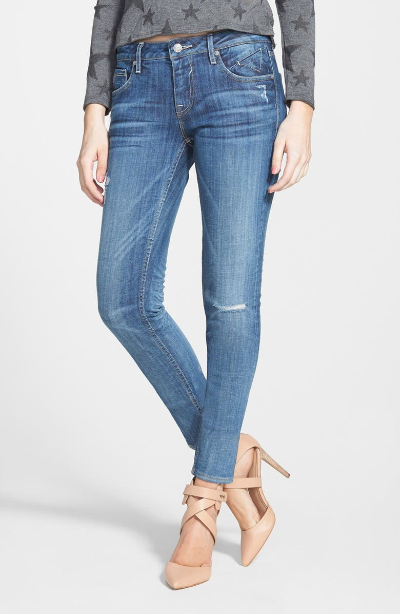 VIGOSS Destroyed Skinny Jeans, Main, color, 400