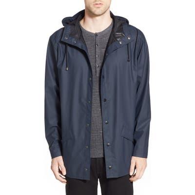 Rains Lightweight Hooded Rain Jacket, Blue