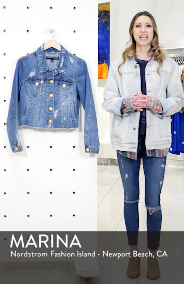 Cara Distressed Denim Jacket, sales video thumbnail