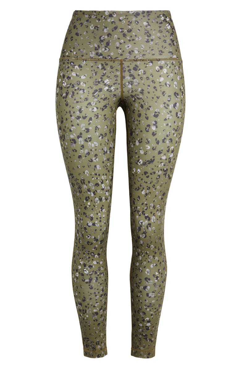 ZELLA Studio High Waist 7/8 Leggings, Main, color, OLIVE ITALY ANIMAL FLECK PRINT