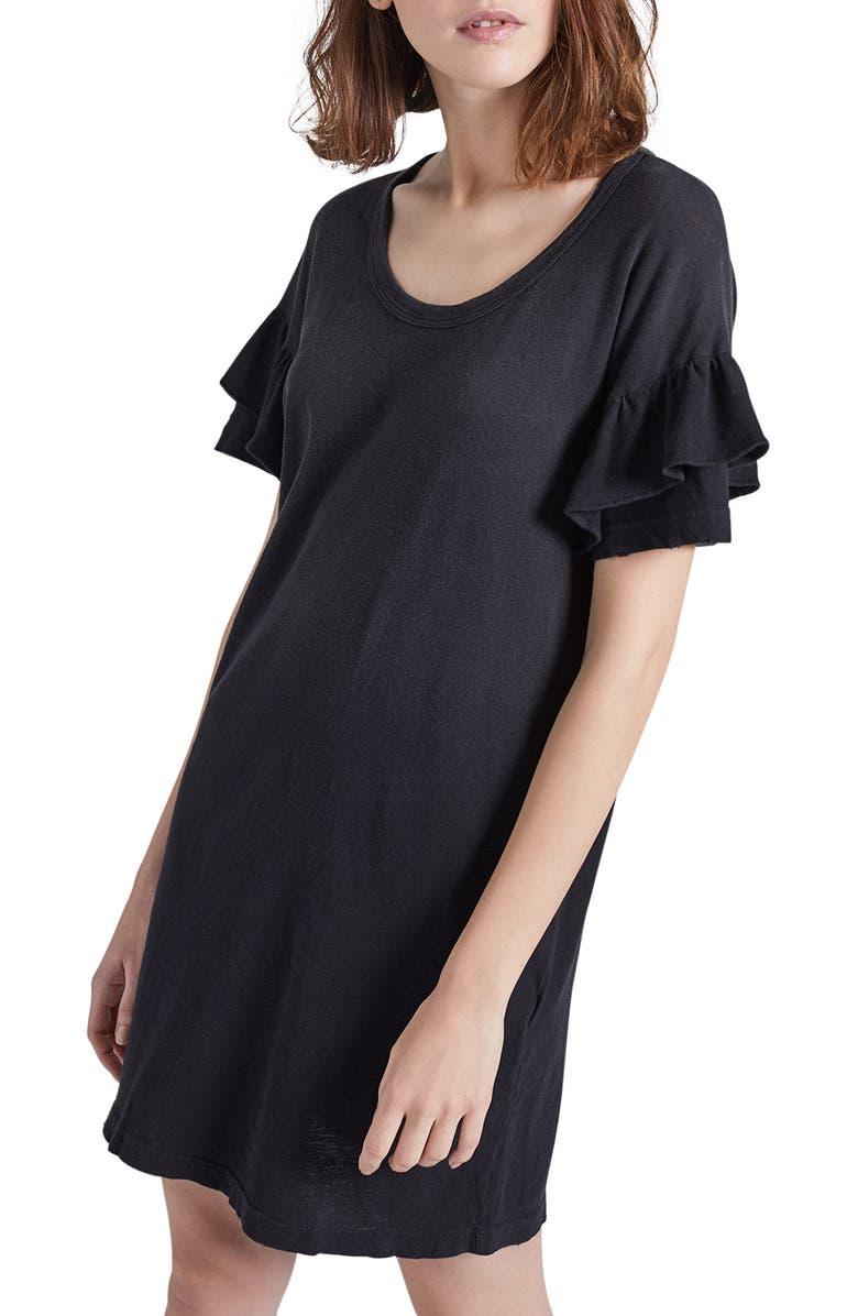 Current Elliott The Ruffle Roadie T Shirt Dress