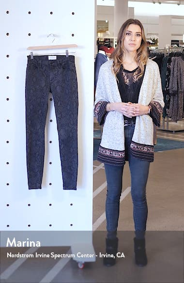 Le Skinny de Jeanne Python Print Jeans, sales video thumbnail