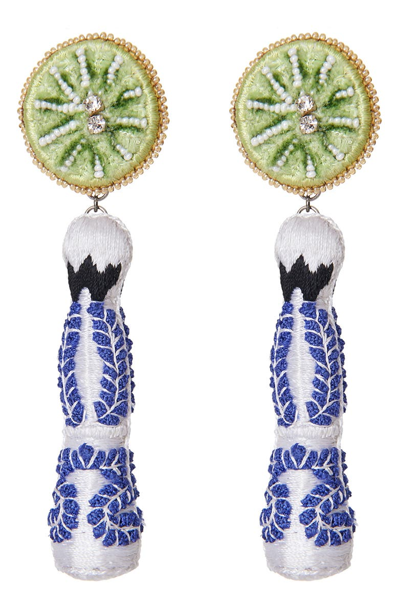 MIGNONNE GAVIGAN Tequila Bottle Drop Earrings, Main, color, 100