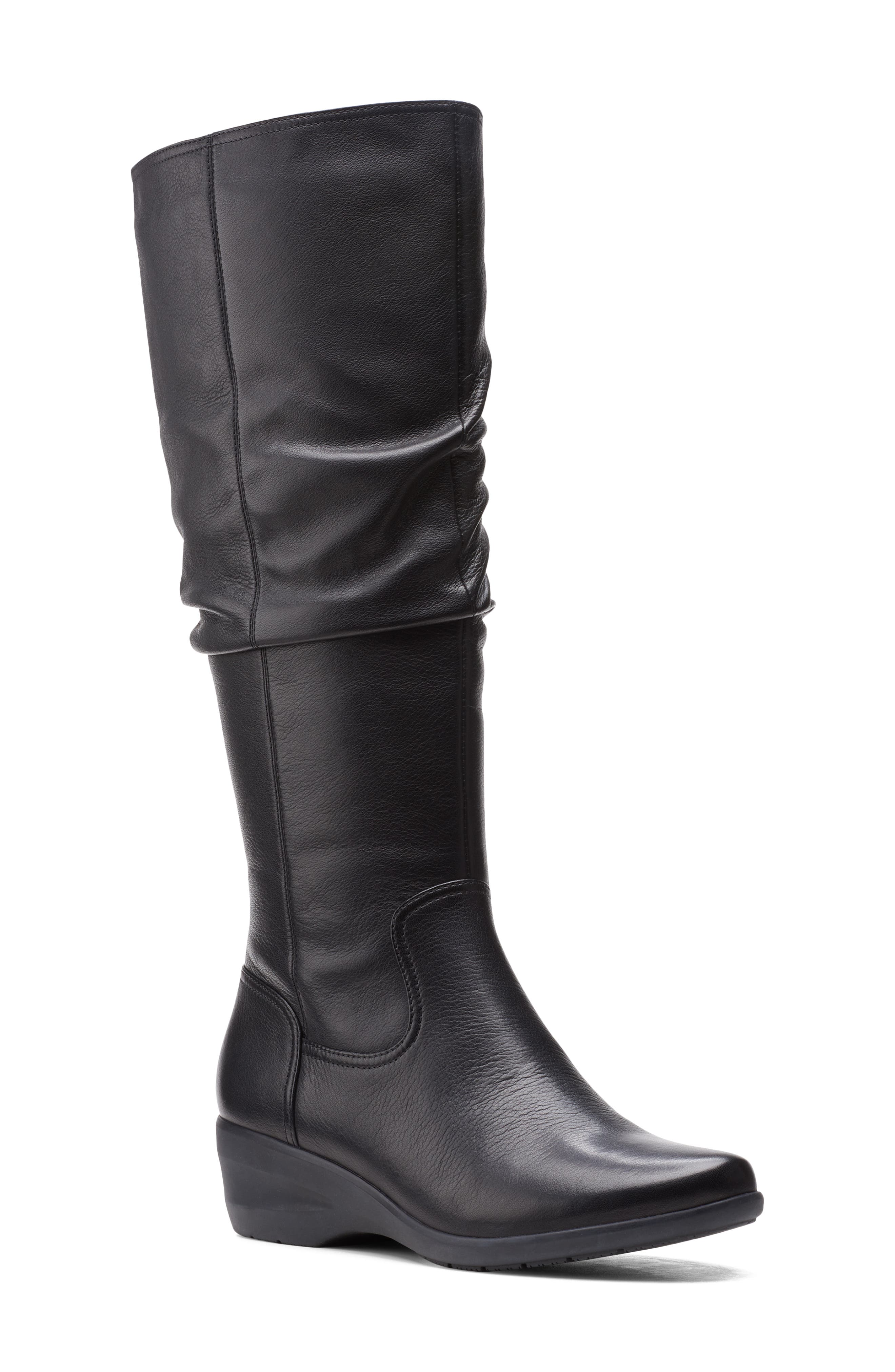 Women's Clarks Rosely Knee High Leather Boot