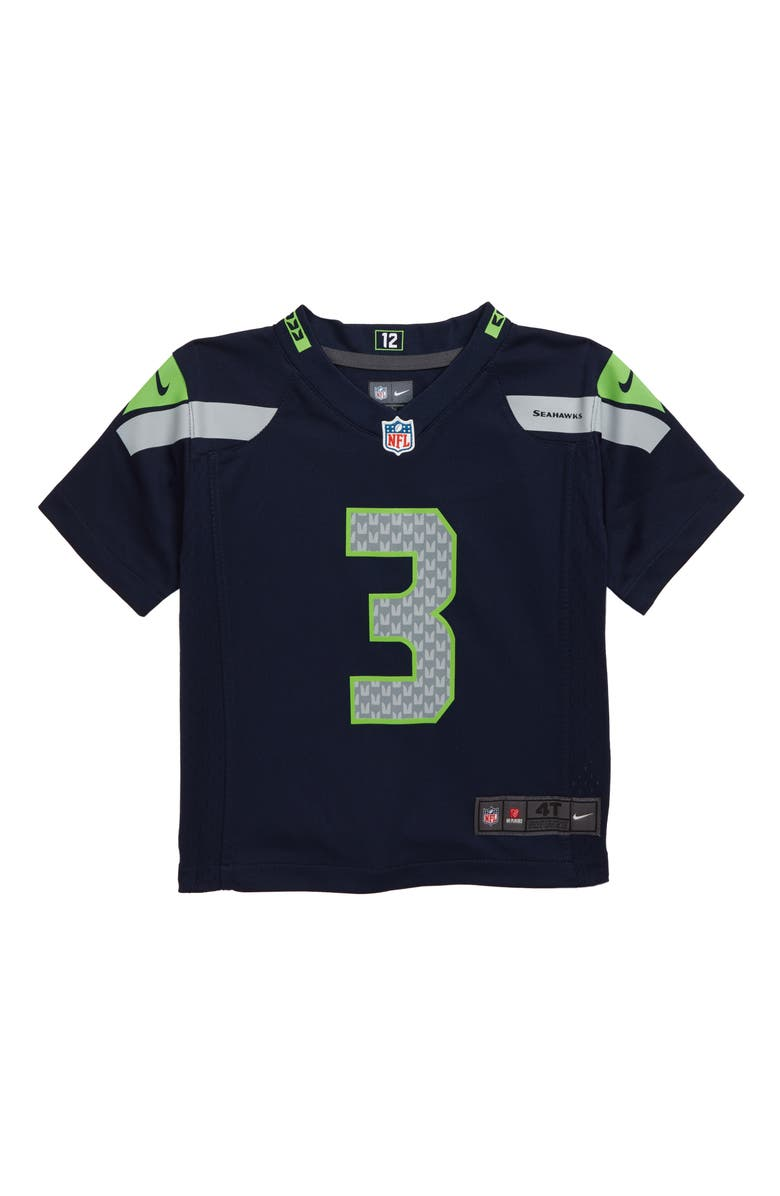 NIKE NFL Seattle Seahawks Russell Wilson Jersey, Main, color, NAVY