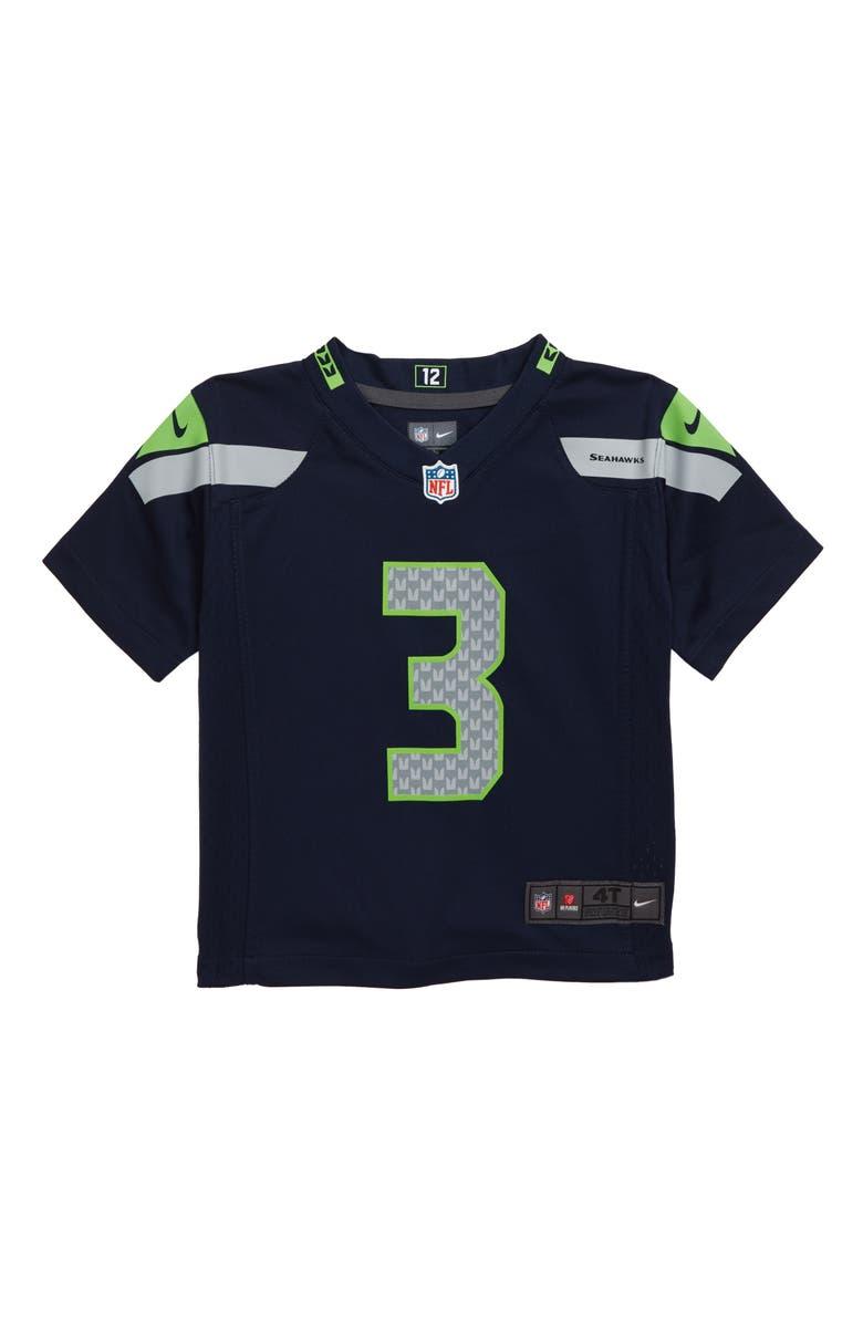 ca12ed7c Nike NFL Seattle Seahawks Russell Wilson Jersey