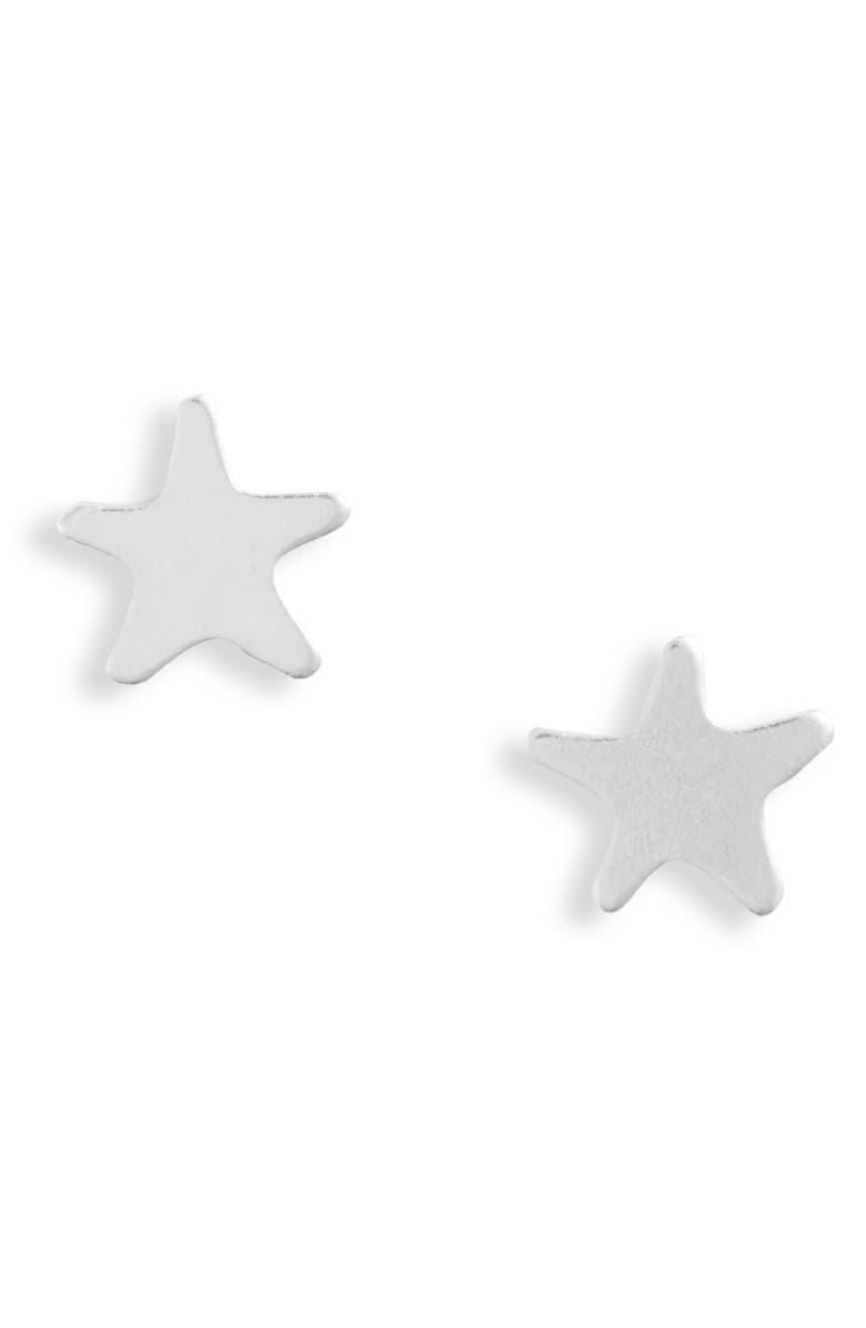 SET & STONES Scarlett Star Stud Earrings, Main, color, SILVER