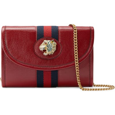 Gucci Minileather Crossbody Bag - Red
