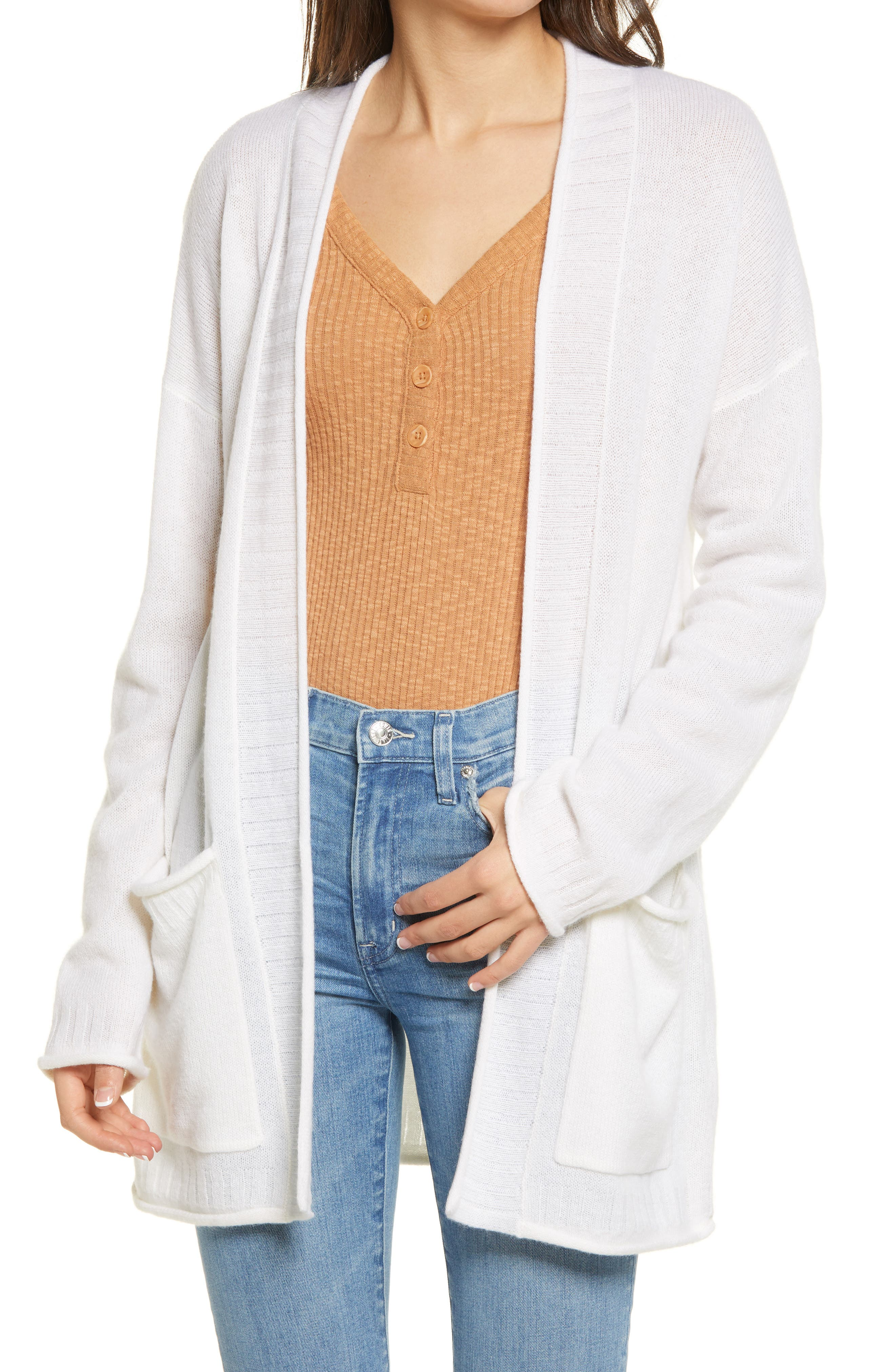 Faherty Hayes Open Cashmere Cardigan | Nordstrom