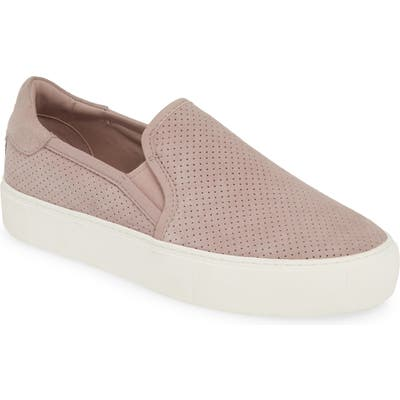 Ugg Abies Perforated Slip-On Platform Sneaker, Pink