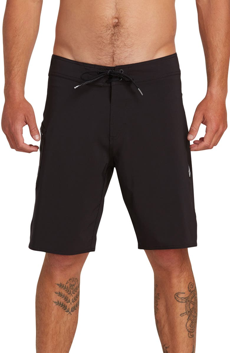 VOLCOM Lido Solid Mod Board Shorts, Main, color, 001