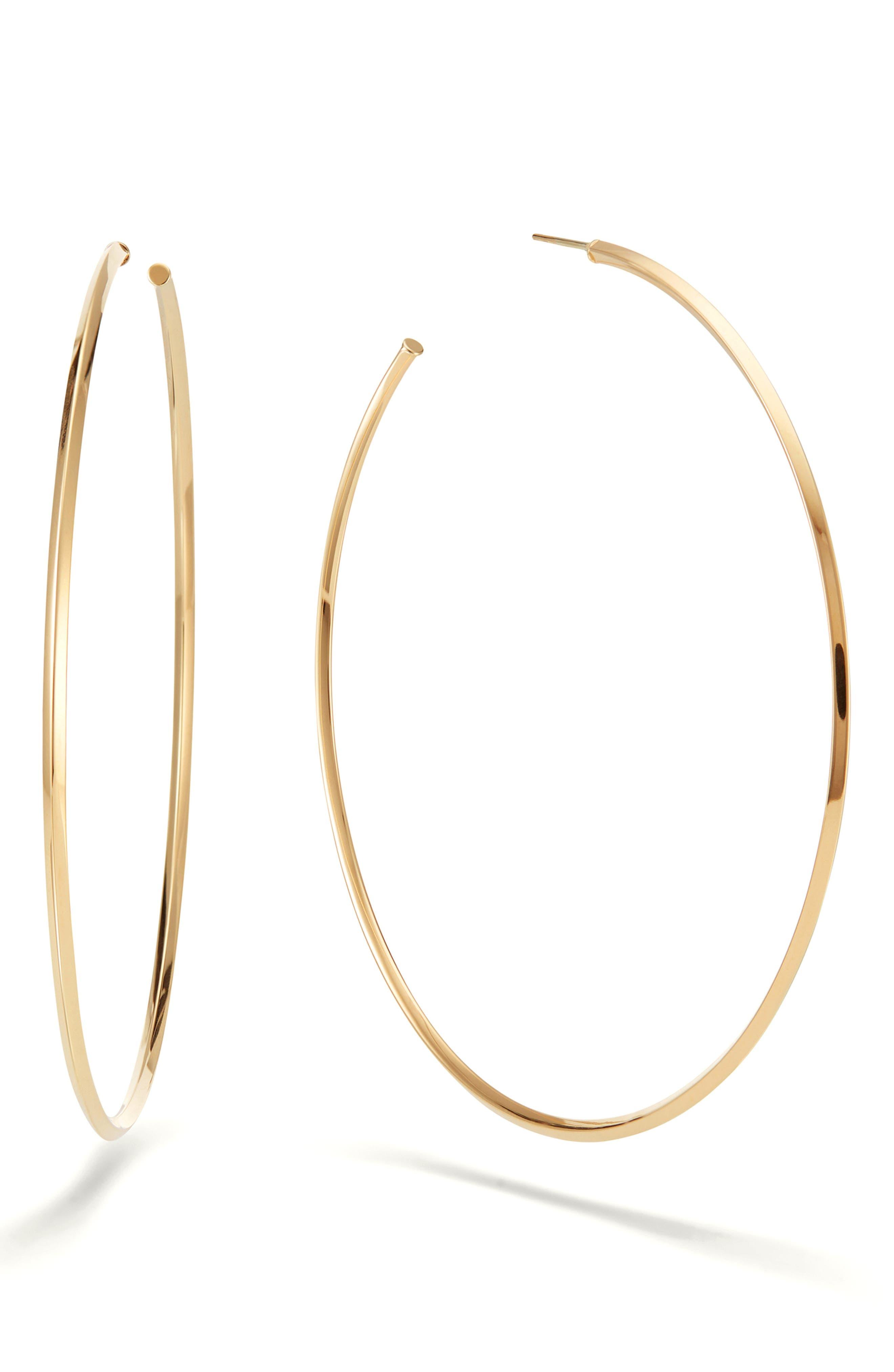 Casino Hollow Hoop Earrings